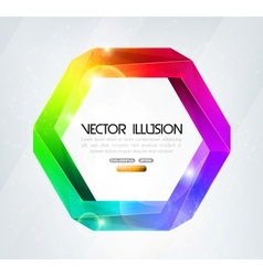 Impossible figure colorful vector