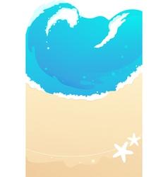 Sandy beach waves vector