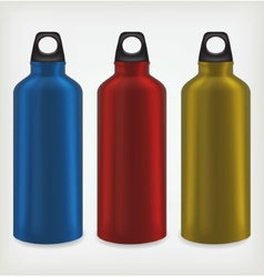 Three water bottles vector