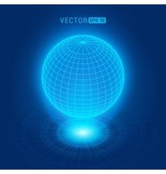 Holographic globe vector