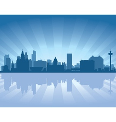 Liverpool england skyline vector