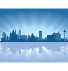 Liverpool england skyline vector