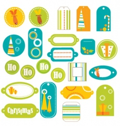 Stickers retro vector