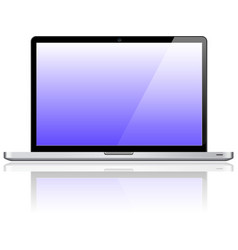 Laptop notebook personal computer vector