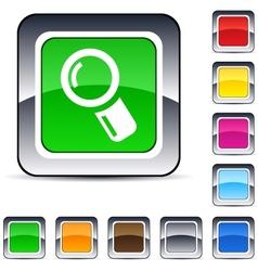 Zoom square button vector