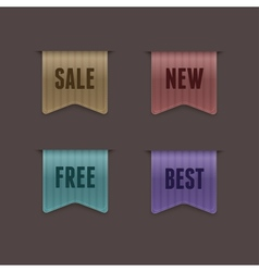 Quality ribbons vector