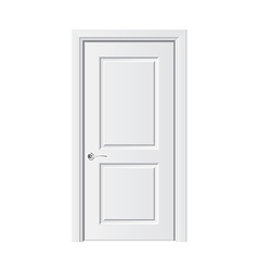 Object white door vector