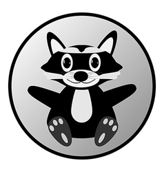 Raccoon button vector