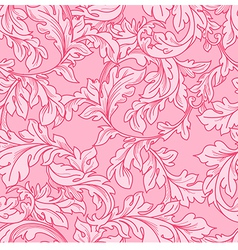 Classic baroque floral seamless pattern vector
