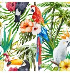 Tropical birds vector