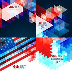 American independence day flag design vector