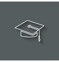 Graduation cap design element vector