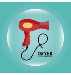 Hair dryer design vector