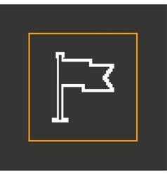 Simple stylish pixel icon flag design vector