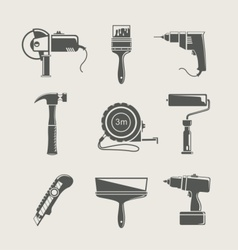 Building tool icon set vector