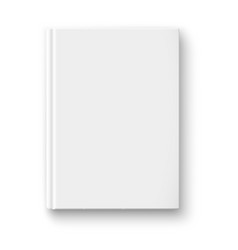 Blank book template with soft shadows vector