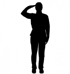 Military salute vector