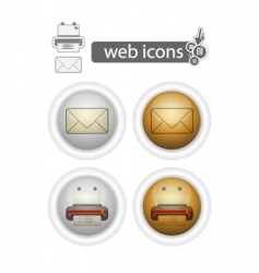 Print and mail web icons vector