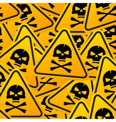 Deadly warning sign vector