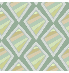 Geometric retro ikat tribal seamless pattern vector