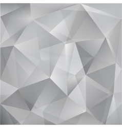Abstract triangle grey background vector