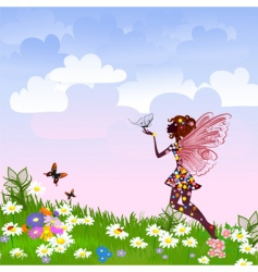 Celestial fairy vector