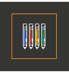 Simple stylish pixel icon handle design vector