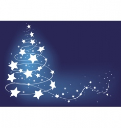Christmas tree card illustration vector