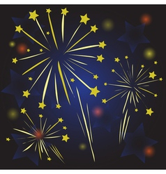 Starry fireworks vector