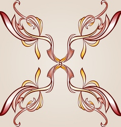 Floral cross element vector