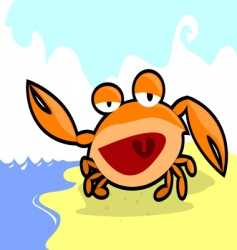 Smiling crab vector