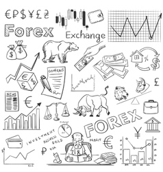 Finance forex hand drawing vector