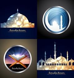 Attractive set of eid background vector