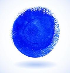 Blue circle watercolor banner vector