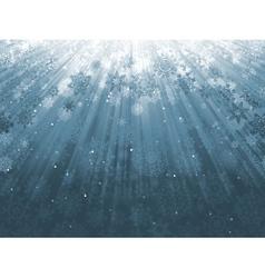 Snowflakes descending on blue eps 8 vector