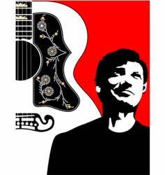 Acoustic guitar-bg-w-guy vector