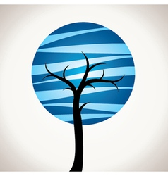 Abstract blue tree vector