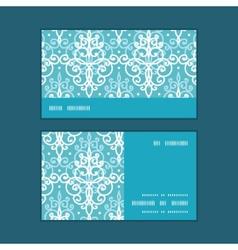 Light blue swirls damask horizontal stripe vector