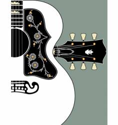 Acoustic guitar-bg-w-headstock vector