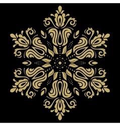 Golden pattern orient ornament vector