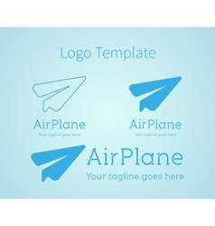 Airplane - logo concept aircraft vector