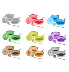 Colorful set of kitchen utensil icons vector