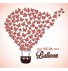 Airballoon design over beige background vector