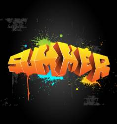Graffiti summer vector