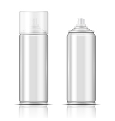 Blank aluminium spray can template vector