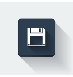 Floppy disc icon vector