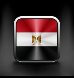 Egypt icon flag national travel icon country vector