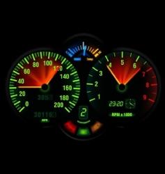 Speedometer panel vector