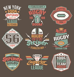 College team american football retro emblems vector