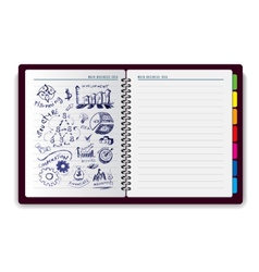 Creative notebook idea vector